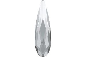 RAINDROP FLAT BACK CRYSTAL 10 ks, 6 mm