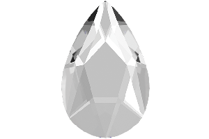 PEAR FLAT BACK CRYSTAL 10 ks, 8mm